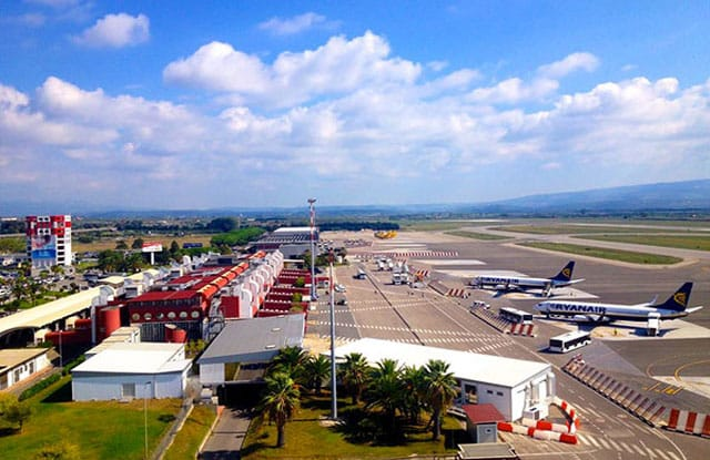 Beela vista panoramica dell'aeroporto di Lamezia Terme SACAL